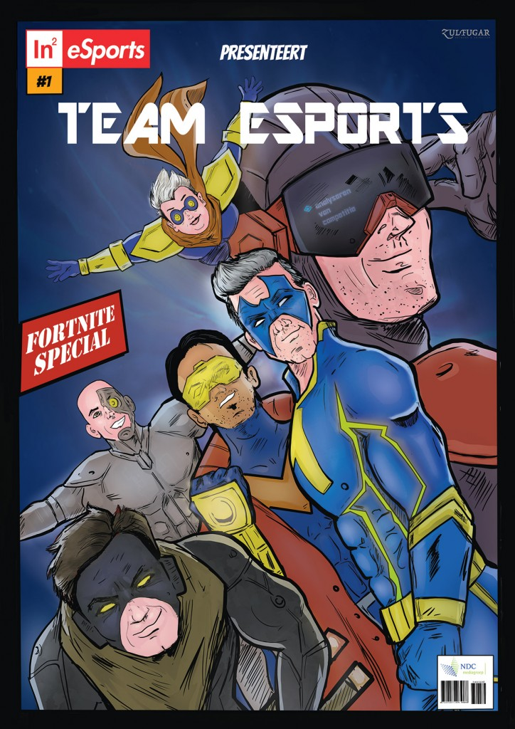 In2esports Superhero Team Portrait